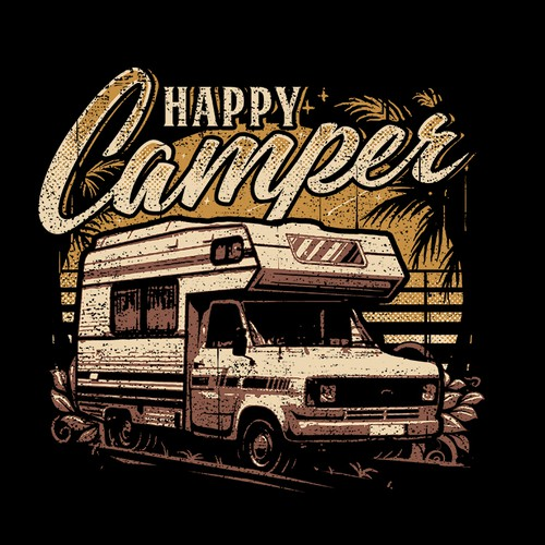 RV AND CAMPING TSHIRT