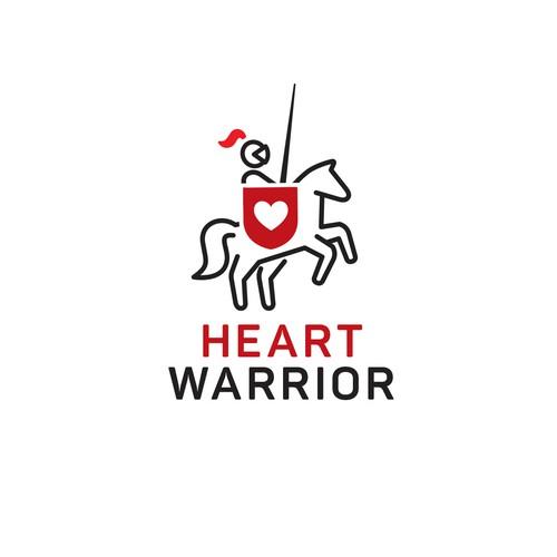 Heart warrior logo