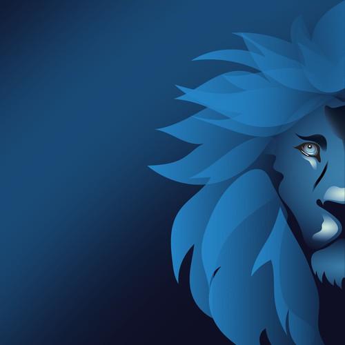 Logo lion - blue lion