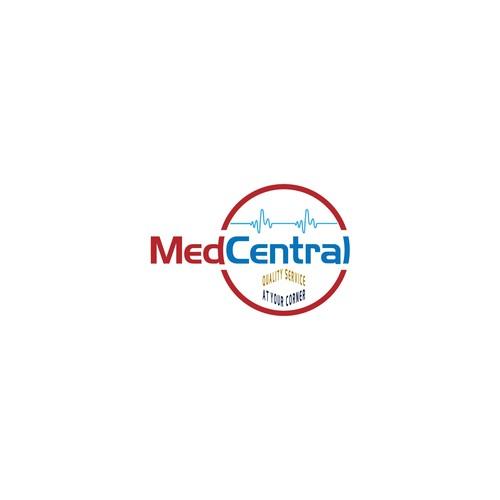bold logo concept for MedCentral.