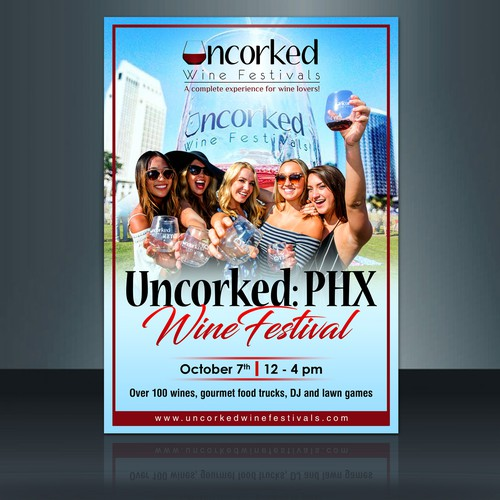 Flyer for Uncorked Wine