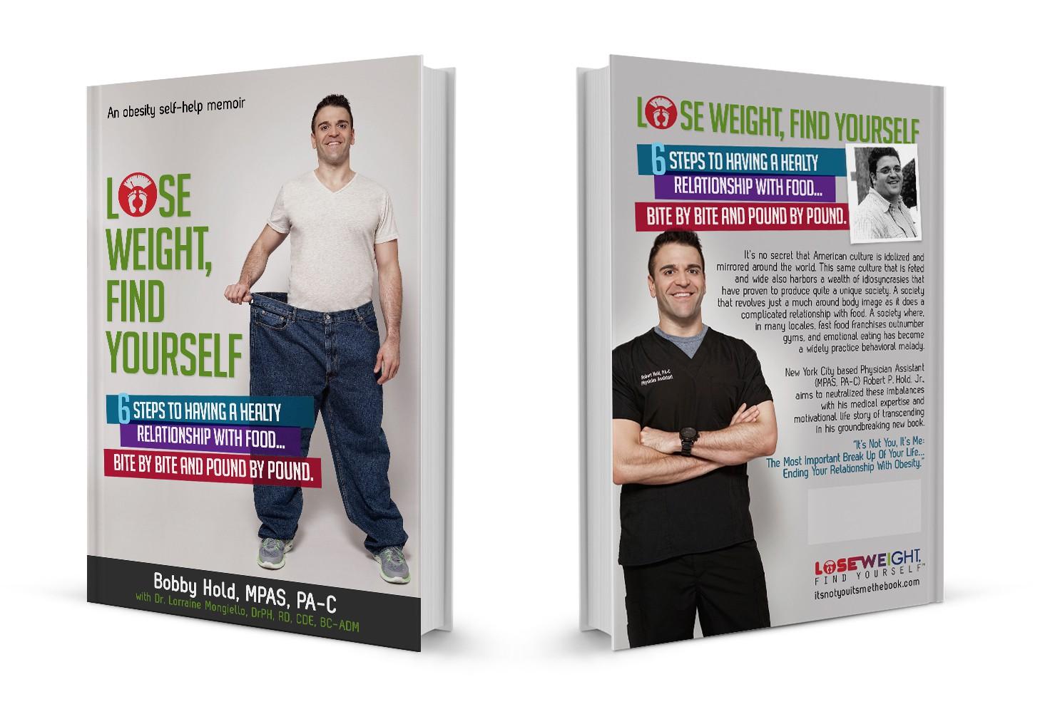 Design cover of my upcoming obesity self-help memoir / weight loss manual.