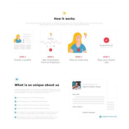 Applying for jobs in companies website