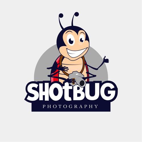 Ladybug mascot photography logo