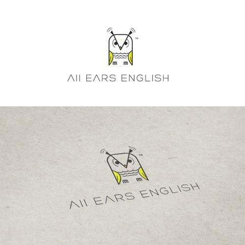Minimal owl logo design