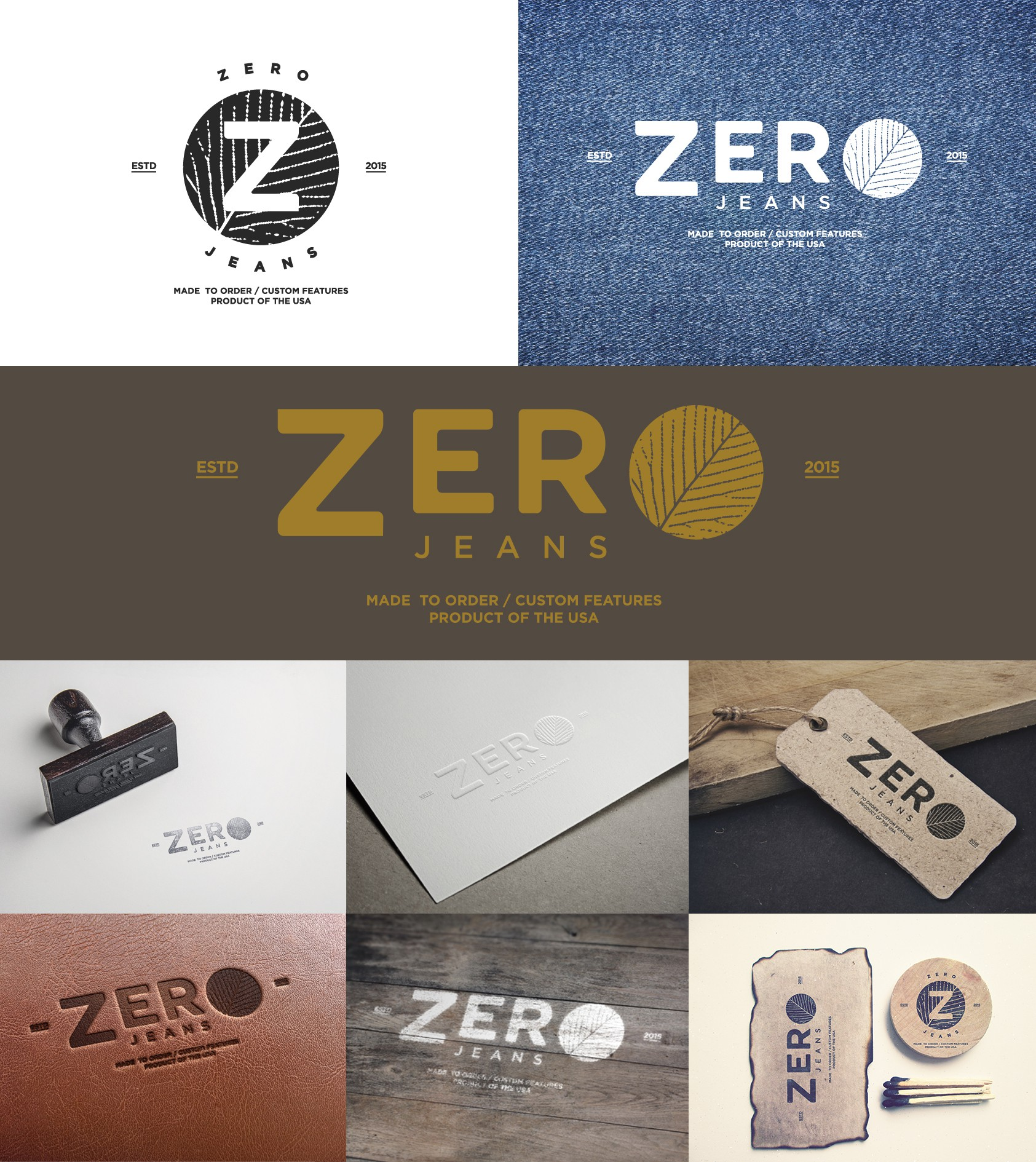 Create a logo for a startup custom jeans brand