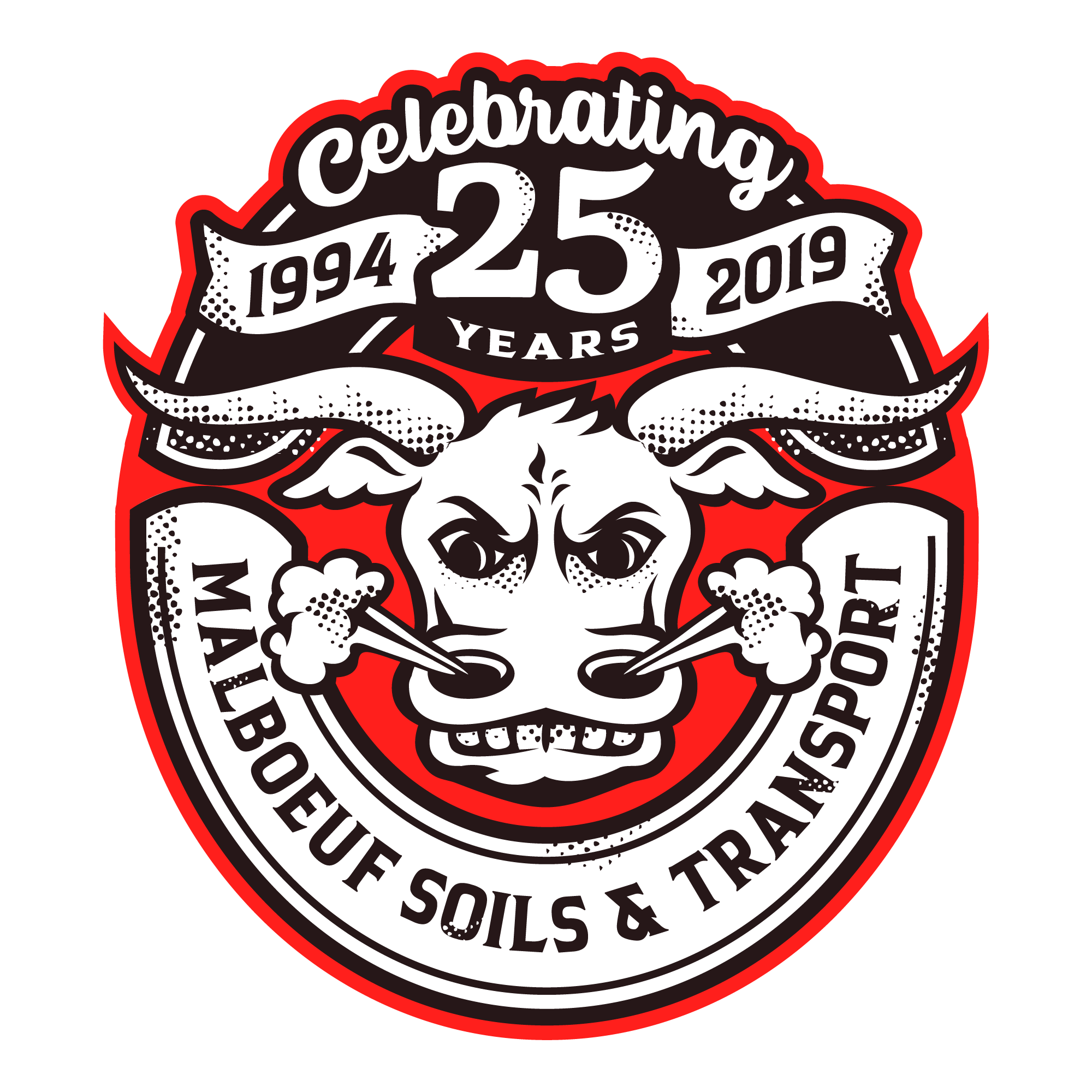 New logo for the 25 years anniversary of the business
