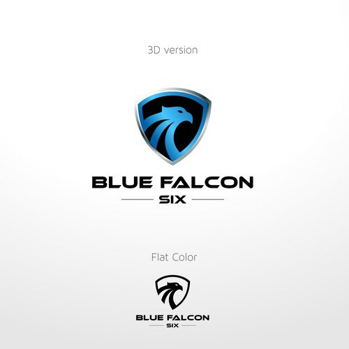 Logo concept for Blue Falcon