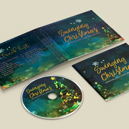 Design entry for Hinterland Jazz Orchestra's Swinging Christmas album :)