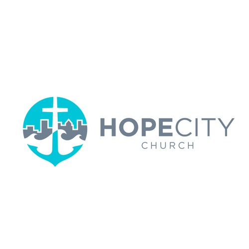 Clean brand identity for Hope City Church