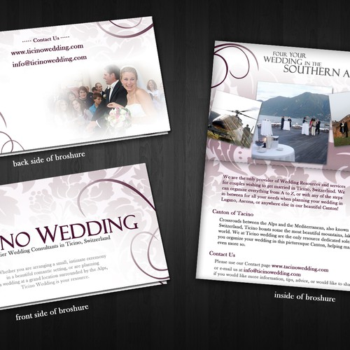Brochure for Swiss Wedding Company
