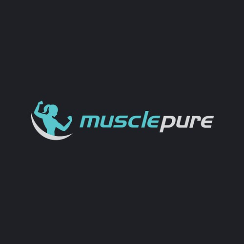 Creative modern logo for Muscle Pure