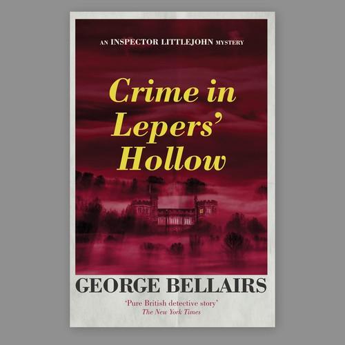 Book cover design for crime novel.
