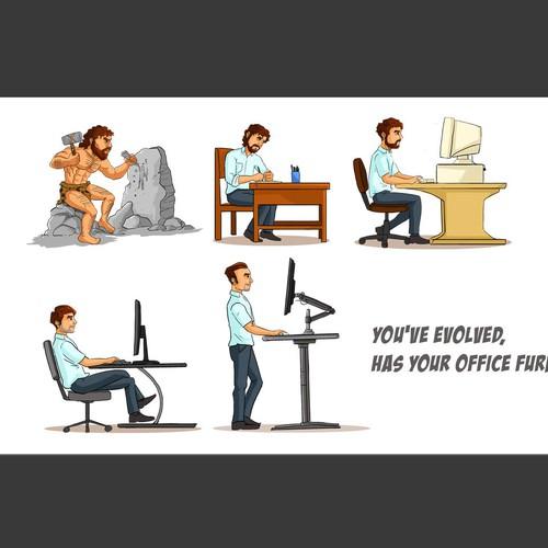 evoulution of office furniture