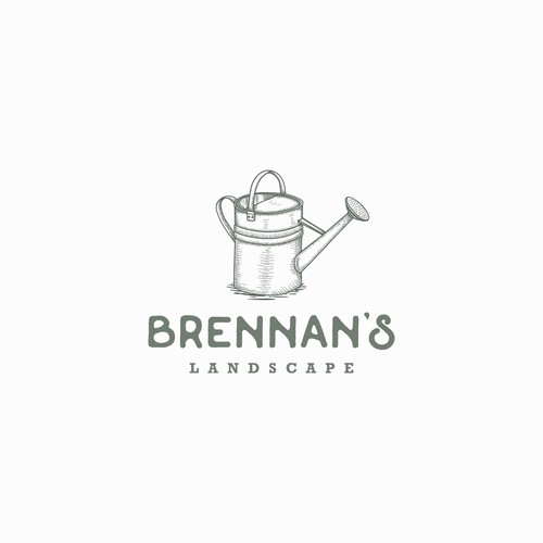 vintage logo for Brennan's Landscape