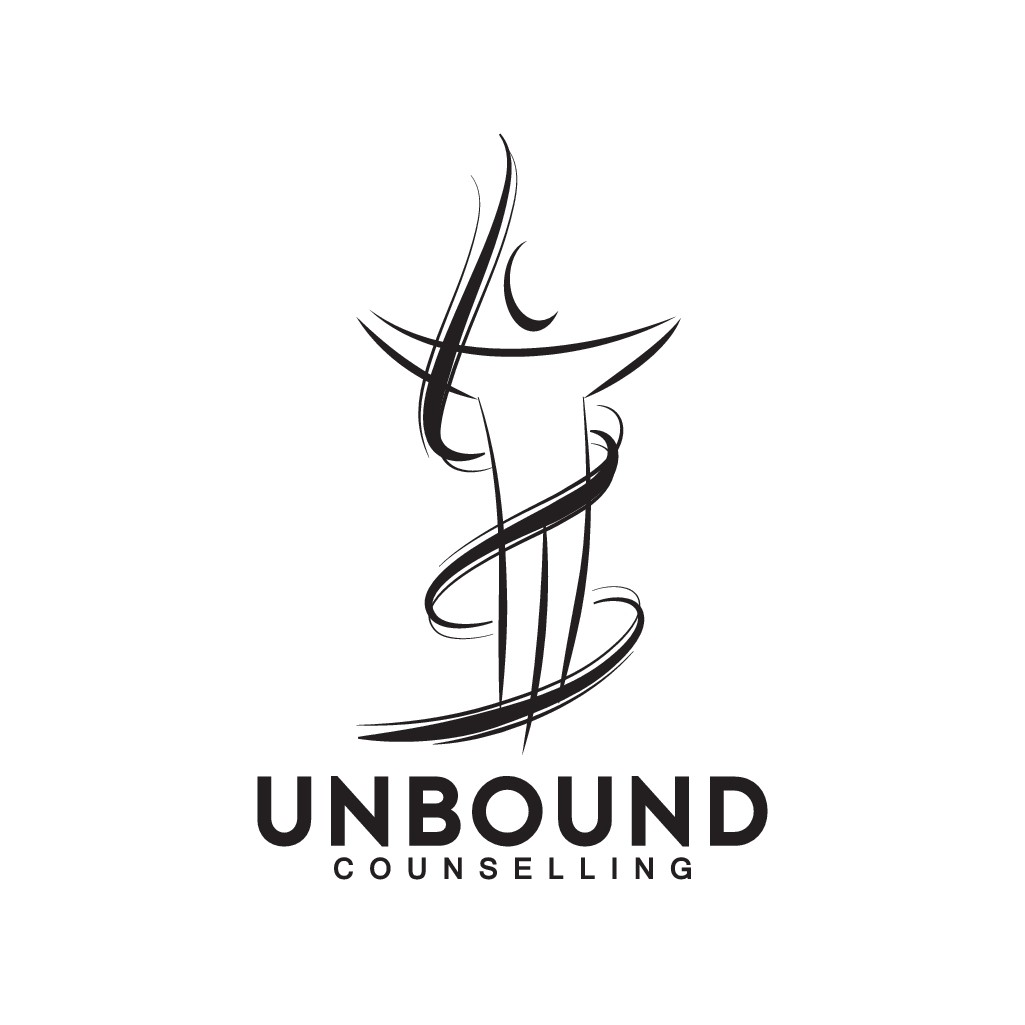 a logo for Unbound Counselling to represent a journey to personal freedom