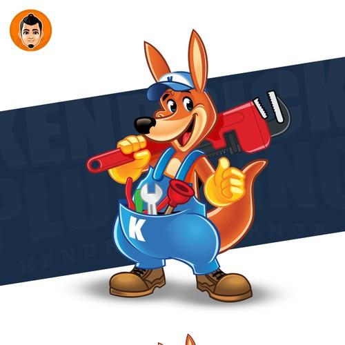 Friendly Kangaroo Logo Mascot