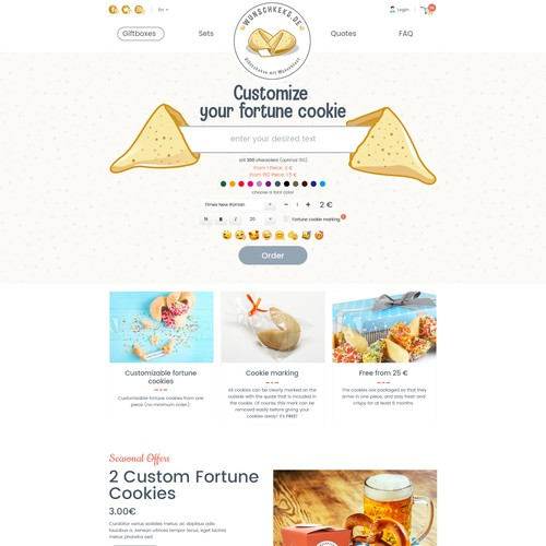 Custom fortune cookie online shop