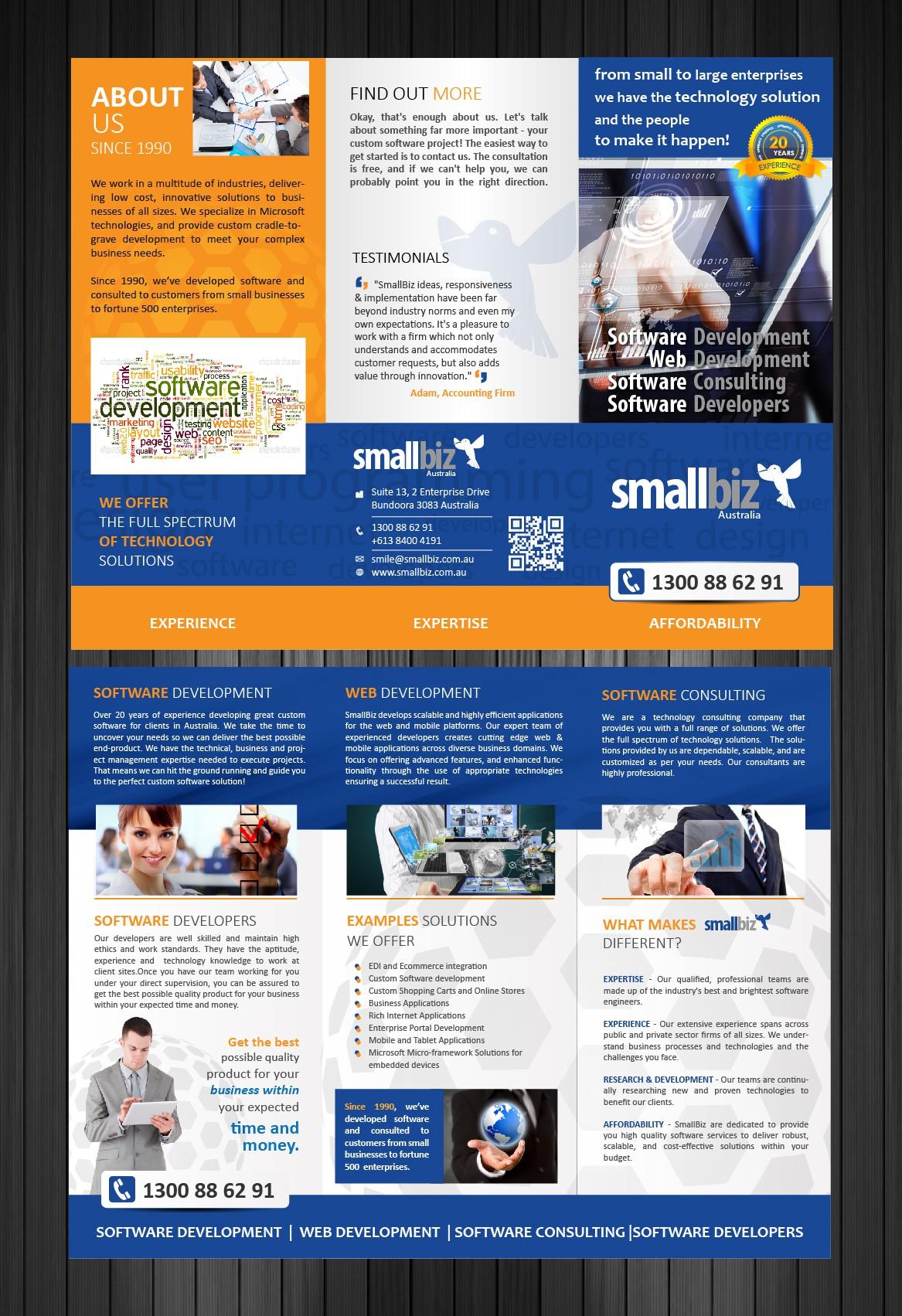 Software Company needs awesome brochure!