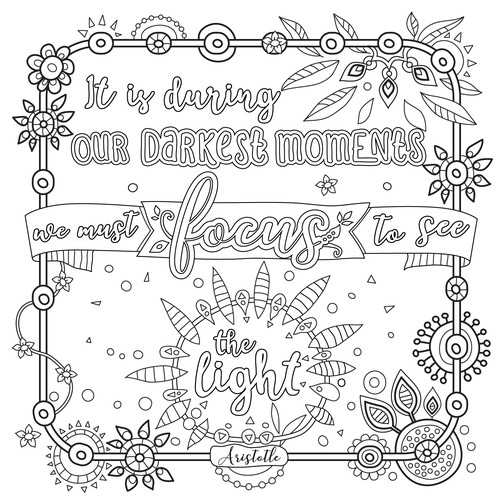 Adult coloring page illustration
