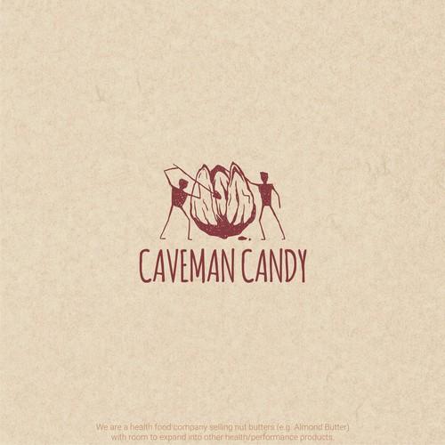 logo design for caveman candy