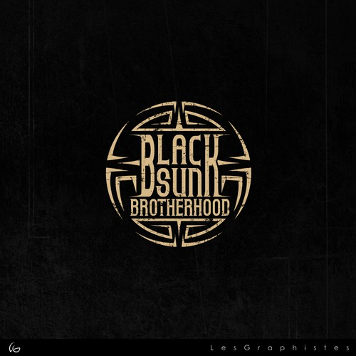 logo for a black metal rock band.
