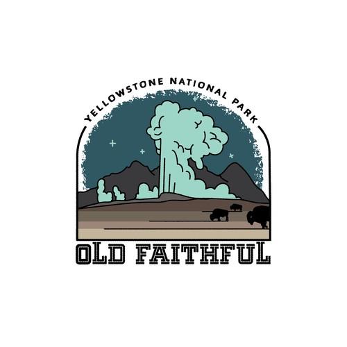 Yellowstone national park shirt design
