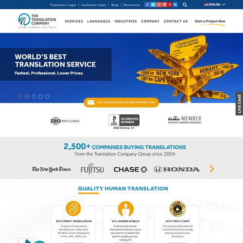 The Translation Company Website