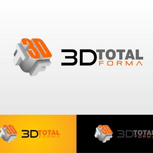 Crie um logo para design e impressão 3D.