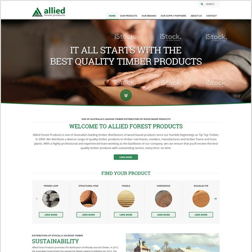 Web design for timber dealer
