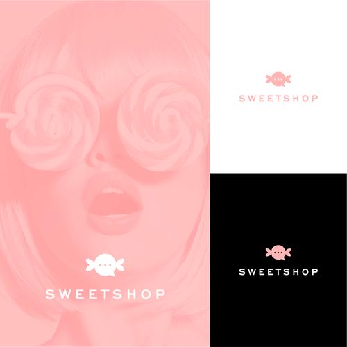 Slick concept for social media logo for Sweetshop