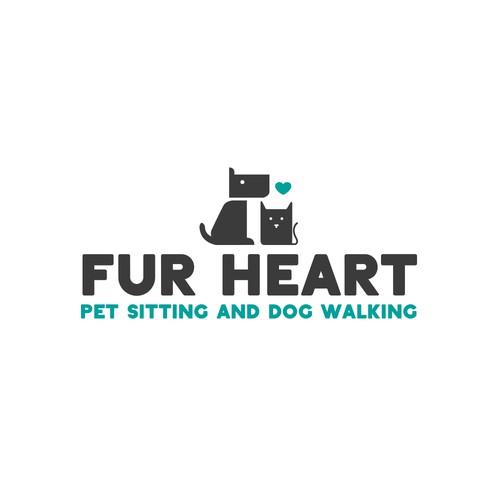Modern Pet Sitting & Dog Walking Logo