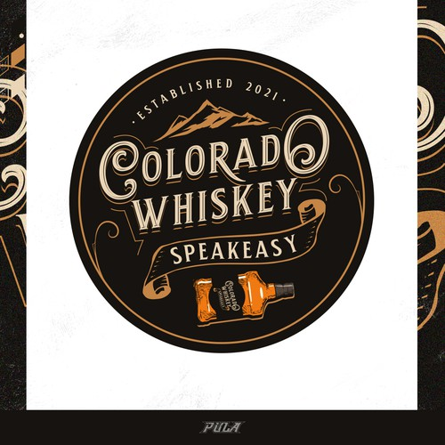 Logo design for Colorado Whiskey Speakeasy