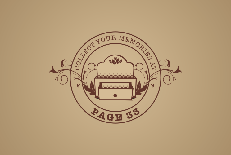 Page 33 needs a logo! Let me help collect your memories.