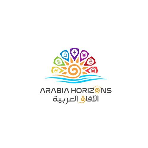 logo for arabia horizons