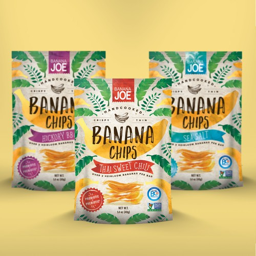 Packaging for banana chips