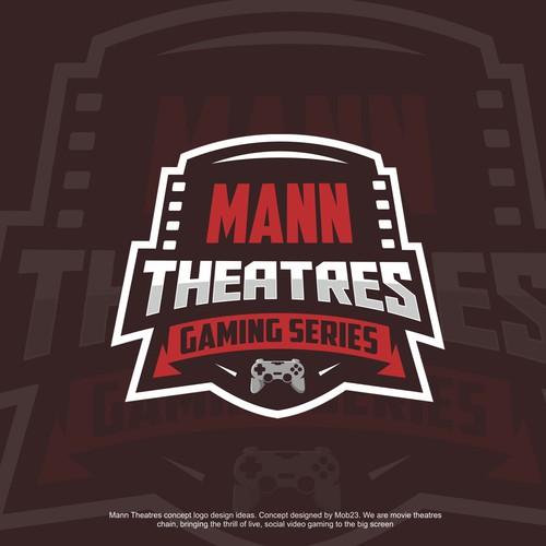 Man Theatres logo design