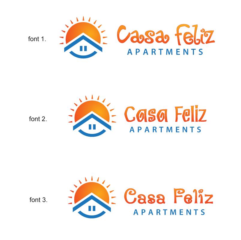 Create the next logo for Casa Feliz Apartments