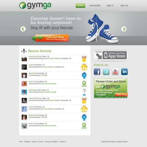 Fun Fitness Site Needs Web Design