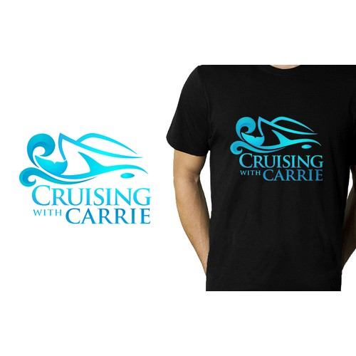 Simple Elegant Logo Design for Cruising with Carrie Travel Agent