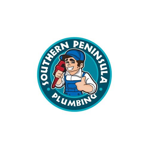Mascot logo design for Southern Peninsula Plumbing