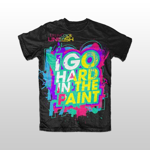 Life in Color creative branded shirt design contest