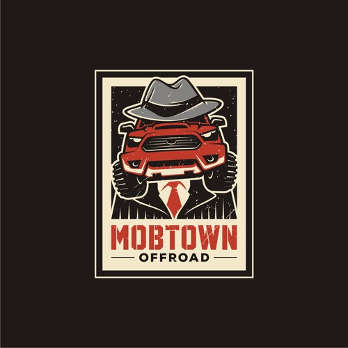 Mobster illustration for Mobtown Offroad