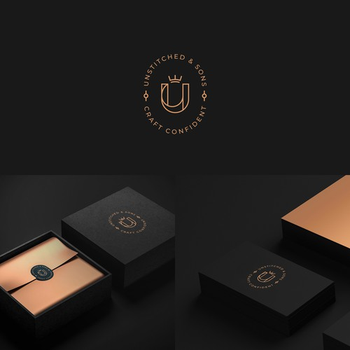 Logo concept for luxurious handmade accessories for men.