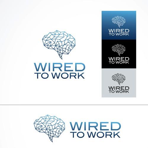 Brain symbol logo concept