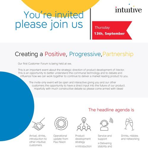 Invite following company's brand guide
