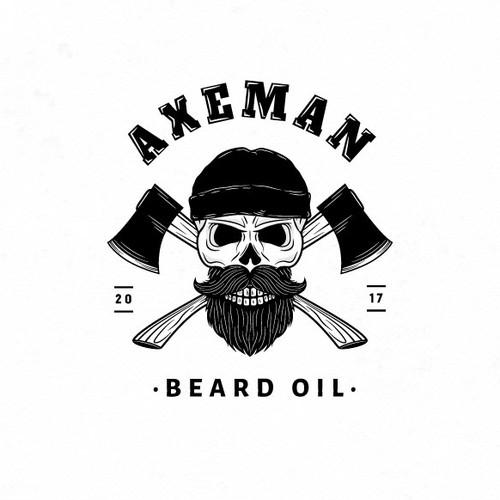 Axeman beard oil label design