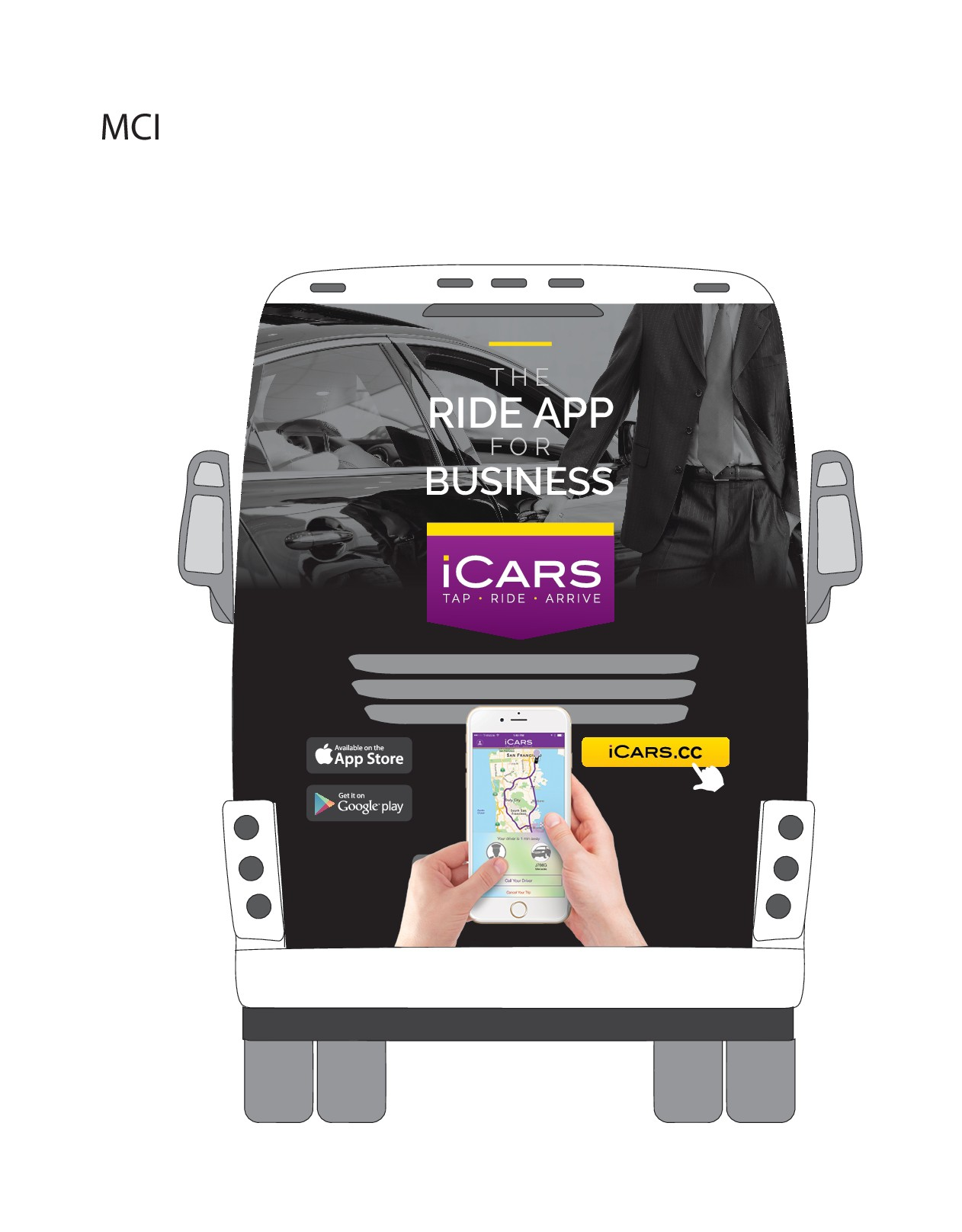 iCARS Bus Wrap - Back Only