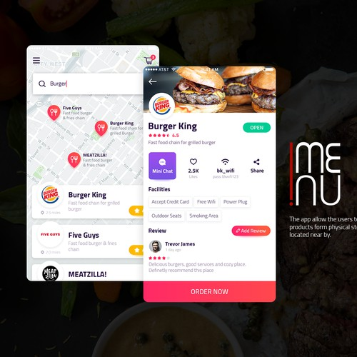 Food Ordering App design concept