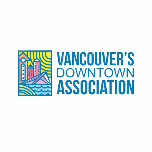unique fun colorful logo for vancouver downtown association